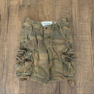 Abercrombie Camouflage Cargo Shorts